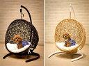 【ラタン家具】【ハンギングチェアー】 ペット用 ミニ ハンギング ゆりかご椅子 (白)