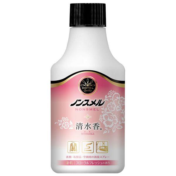 白元アース ノンスメル清水香 衣類・布製品・空間用スプレー フローラルフレッシュの香り つけかえ300mL × 5 点セット