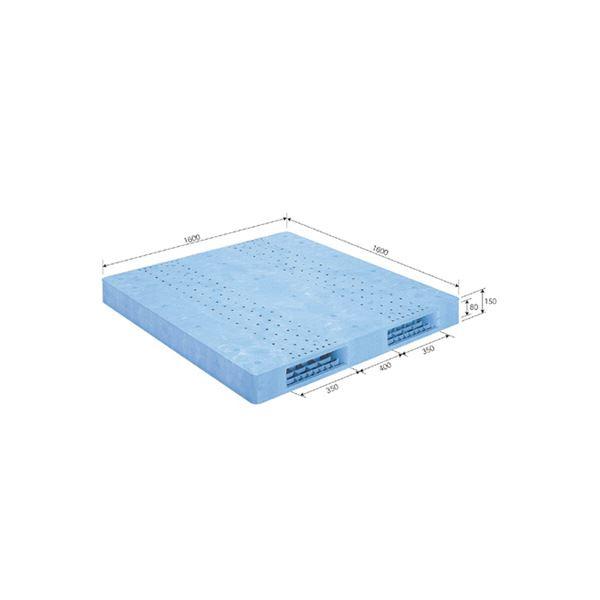 三甲(サンコー) プラスチックパレット/プラパレ 【両面使用型】 段積み可 R2-1616F ライトブルー(青)【代引不可】