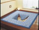 しじら織掘こたつ用ボリュームラグ正方形 200×200cm