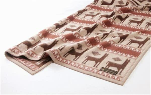 <京都西川>アルパカ毛布(毛羽部分)ベージュ 140×200cm