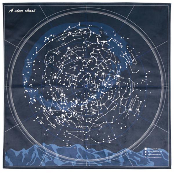 洗濯機で洗える星座ラグ 「スター」約185×185cm 約185×185cm