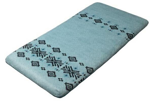 クッション 長座布団 ごろ寝 高反発 カバー洗濯可 「PUFF キリム」 ブルー 約65x115x7cm 約65x115x7cm