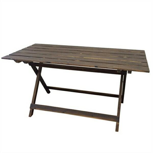 ウッドファニチャー (クリア塗装)/折り畳みテーブル/木製/ブルックリンスタイル