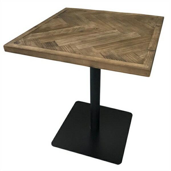 KOZAIカフェテーブル ヘリンボーン 古材 ・ブルックリン・カフェテイスト