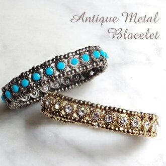 6 colors to choose from! Antique color rubber bracelet and Bangle bra040