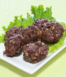鹿もも肉65%以上☆鹿肉と納豆とオクラのネバネバーグ(6個入り)