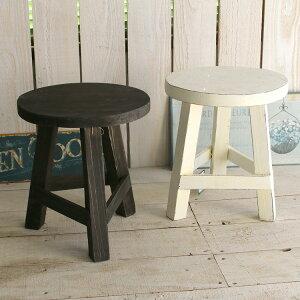【Sサイズ】フラワースタンドアンティーク S 木製(ホワイト・ブラウン)屋外 室内おしゃれ 花台