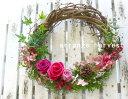 【送料無料】プリザーブドフラワーの リース 「クレッシェント harvest(ハーベスト)」(母の日 ブリザード プリザーブドフラワーの リ…