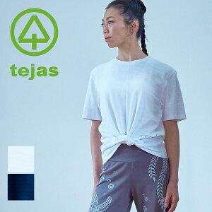 【テジャス Tejas】vari-tops【TL11151】ワーリトップス ヨガウェア ヨガ Tシャツ レディース ホットヨガ ラクチン フィットネス ピラティス スポーツウェア ウェア マタニティウェア 【2021】【5/18