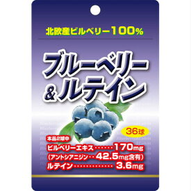 ユウキ製薬 ブルーベリー&ルテイン 36球入 【メール便】(4524326202352)