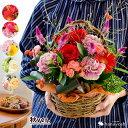 バラと季節の花 おまかせ生花アレンジ Mサイズ アレンジ ハロウィン フラワーアレンジ...