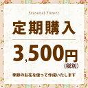 毎月お届け●3500円<税別>【送料無料】【花束】か【生花アレンジ】か【寄せ鉢】のいずれかから選べる◎特典付半年〜…