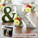クリアケース付 プリザーブドフラワー ギフトNEWアルファベット オブジェ -ミュール イニシャル 花 結婚祝い ブリザー…
