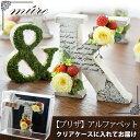 クリアケース付♪ プリザーブドフラワー ギフトNEWアルファベット オブジェ -ミュールイニシャル 花 結婚祝い ブリザ…