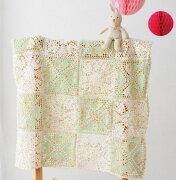 編み図付きキット(17-36)ベビーお花とハートのブランケットエミーグランデベビーオリムパス