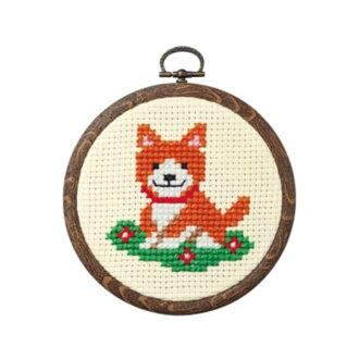 十字花刺绣配套元件狗和花小的朋友们shirizuorimupasu olm手工艺的山久