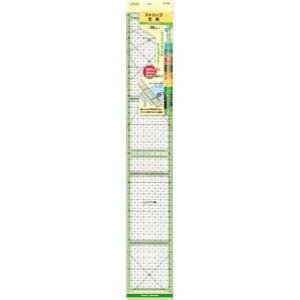 クロバー 57-929 ストリップ定規 カラーライン・50cm カッター定規 ピースカット clv 手芸の山久