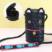 夏休み工作自由研究黒猫のポシェットH367-313こども手芸キットエコアンダリヤバッグ手芸の山久