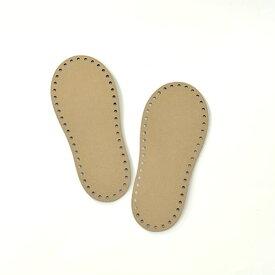 ハマナカ 室内履き用レザー底(こども用15cm) 2枚1組 H204-631 hama ネコポス可 手芸の山久