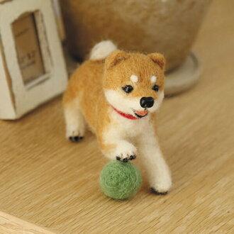 羊毛毡包狗羊毛毡狗套件狗感到羊毛工具包芝犬
