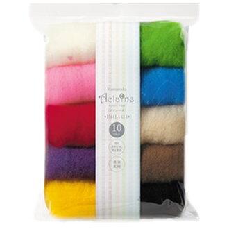 滨中丙烯纤维 Akranes 10 颜色设置工艺品劳拉