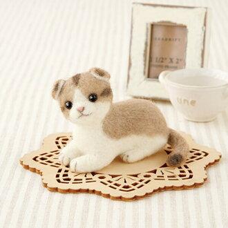 羊毛ferutokittosukotisshuforudo羊毛毡猫配套元件猫毡羊毛
