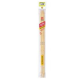 棒針 アミアミ特長4本針 6号/7号/8号/9号 30cm 竹製 編み針 ネコポス可 ハマナカ hama 手芸の山久