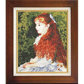 880 Irene Khan d'anvers Miss Renoir made cross stitch Embroidery amount type