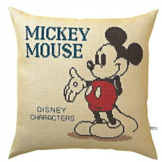 Cotton 5881 Mickey Mouse cross stitch Embroidery Kit Cushion cover embroidered Disney olm handicraft Laura