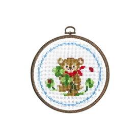 刺繍キット クマとクローバー 森のかわいいなかまたち 7403 オリムパス 手芸の山久
