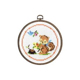 刺繍キット リスと木の実 森のかわいいなかまたち 7404 オリムパス 手芸の山久