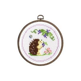 刺繍キット ハリネズミとブドウ 森のかわいいなかまたち 7406 オリムパス 手芸の山久