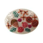 フランス刺しゅうブローチキット木の実No.9083日本製ネコポス可オリムパスolm手芸の山久
