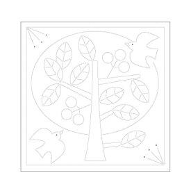 刺し子 布パック 北欧モチーフの花ふきん ツリー 1袋3枚単位 H-1030 ネコポス可 オリムパス olm 手芸の山久