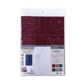 刺し子布 刺し子紬カットクロス 伝統柄 Traditional 約108cm×61cm 日本製 ネコポス可 オリムパス olm 手芸の山久