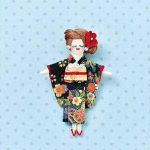 人形ドレスキット パート2 着物 黒 NB-25 ドレス オリジナルドール ドールチャーム パナミ 取寄せ商品 ネコポス可 手芸の山久
