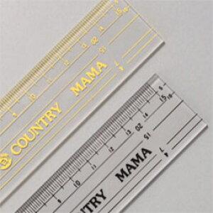 パッチワーク定規 15cm 88A8 黄ライン カントリーママ パッチワーク用品 ykt ネコポス可 手芸の山久