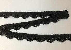 【日本製】 ストレッチレース 18mm巾 黒 No.CO2000-87207