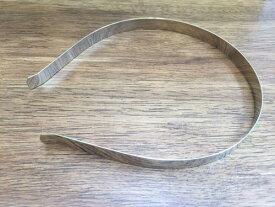 カチューシャ ベース 土台 10mm巾 5本セット 金属シルバー No.4-10