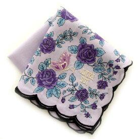アナ スイ 刺繍ハンカチ 0203 パープル 【楽ギフ_包装】