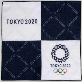 【SALE 750円→300円】 東京2020オリンピックエンブレム 両面プリントガーゼハンカチーフ パッケージ入り 0001