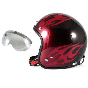 72JAM デザイナーズジェットヘルメット [JCP-01] 開閉シールド付き [APS-04]BURNS バーンズ レッド [キャンディーレッドベースグロス仕上げ]FREEサイズ(57-60cm未満) メンズ レディース 兼用品 SG規格 全