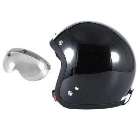 72JAM デザイナーズジェットヘルメット [JJ-10] 開閉シールド付き [APS-04]VIVID BLACK ブラック [ガラスフレークブラックグロス仕上げ]FREEサイズ(57-60cm未満) メンズ レディース 兼用品 SG規格 全排気量対応