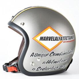 72JAM デザイナーズジェットヘルメット [JJ-21]MARVEL マーベル シルバーグレー [シルバーグレーベース マット仕上げ]FREEサイズ(57-60cm未満) メンズ レディース 兼用品 SG規格 全排気量対応