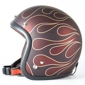 72JAM デザイナーズジェットヘルメット [JJ-22]STEALTH ステルス レッド [ガラスフレークレッドベースマット仕上げ]2サイズ メンズ レディース 兼用品 SG規格 全排気量対応
