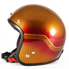 72JAM デザイナーズジェットヘルメット [VNT-09]CARROT MANDA ヴィンテージ [オレンジシルバーフレークベースグロス仕上げ]FREEサイズ(57-60cm未満) メンズ レディース 兼用品 SG規格 全排気量対応