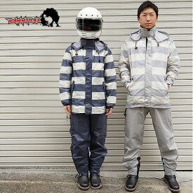 DAMMTRAX(ダムトラックス) BORDERRAIN レインコート 男女兼用(XS〜3Lサイズの全6サイズ) NAVY、GRAY