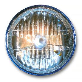 マルチリフレクターヘッドライト 180mm(180φ)(180パイ) メッキケース ブルーレンズ 汎用品旧車 ゼファー400 ZRX400 XJR400 CB400SF ジェイド バリオス ホーク GS400等