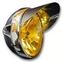 マルチリフレクターヘッドライト 180mm(180φ)(180パイ) メッキケース イエローレンズ 汎用品+ピヨピヨ ヘッドライト…
